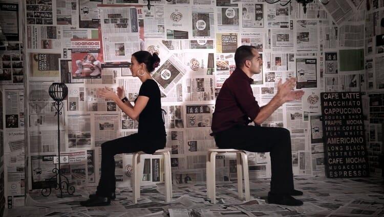 La Mariona i en Santi a la gravació del 'Not Worthy'