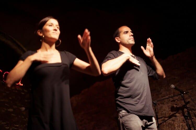 Santi i Mariona a la Mostra d'Aarts de la UVic. Fotografia: Jordi Molet