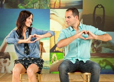 Santi i Mariona al rodatge de l'anunci de 'El Pozo'